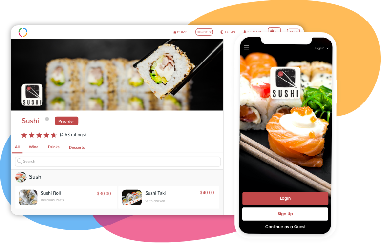 Ordering | Home | Ordering Website and Ordering App
