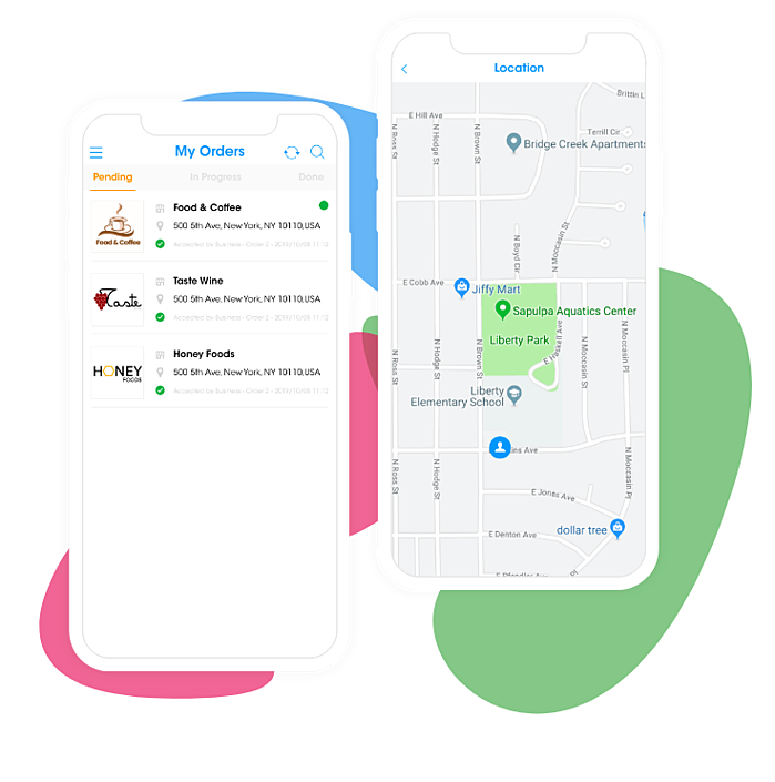 Delivery App | Drivers App | Orders & Map Routing