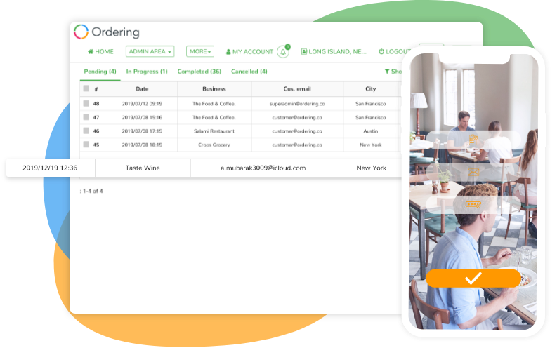 Ordering    Orders Manager and Business App