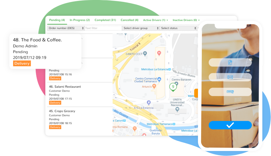 Ordering   DeliveryDashboardApp and Delivery App